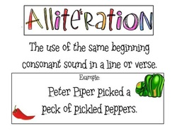 Alliteration Poetry Terms A4 Display Poster - Literacy